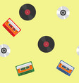 music themed pattern vector image vector image
