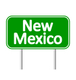 New Mexico green road sign vector image