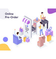 online preorder isometric modern flat design vector image vector image