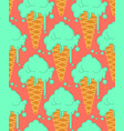 pistachio ice cream in waffle cone seamless vector image vector image