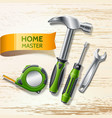 realistic repair and renovation tool 3d set vector image