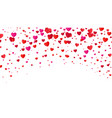 red colorful heart halftone valentines day vector image vector image