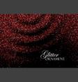 red confetti glitters vector image vector image