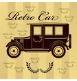 Retro car or background vector image vector image