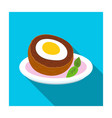 scotch eggs icon in flat style isolated on white vector image vector image