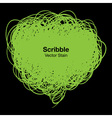 Scribble green bubble vector image vector image