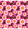 Seamless colourfull flower pattern vector image vector image