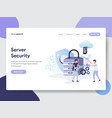 server security concept vector image