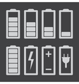 Set of battery charge level indicators isolated vector image