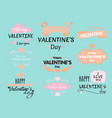set valentine s day vector image vector image