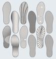 Shoe Soles vector image vector image