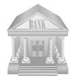 Silver Bank Icon vector image
