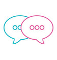 speech bubble cartoon vector image
