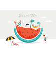 summer scene group people having fun around a vector image vector image