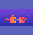 teamwork gradient on violet vector image vector image