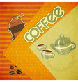 Template orange menu of coffee vector image vector image