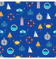 The pattern and the sea vector image vector image