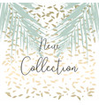 trendy chic banner design with gold colored foil vector image vector image