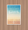Vintage summer poster vector image vector image