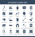 wash icons vector image vector image