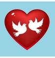 Wedding pigeons in heart vector image vector image