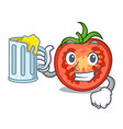 with juice cartoon fresh tomato slices for cooking vector image