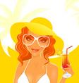 women dream summer vector image vector image