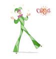 circus juggler walking on stilts vector image