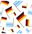 german and bavarian flag seamless pattern vector image