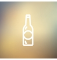 Light beer bottle thin line icon vector image