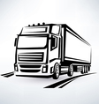 european truck outlined symbol vector image