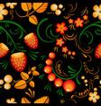 seamless pattern khokloma vector image