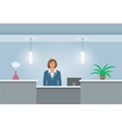 African American Woman receptionist at reception vector image vector image