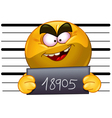 arrested emoticon vector image vector image