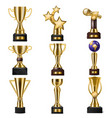 award trophy winners prize golden trophycup vector image