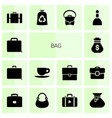 bag icons vector image vector image
