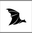bat logo template icon vector image