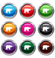 bear set 9 collection vector image vector image
