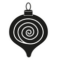 black white christmas tree decoration silhouette vector image vector image