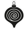 black white christmas tree decoration silhouette vector image