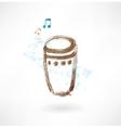 bongo grunge icon vector image vector image