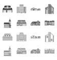 building and front icon vector image