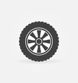 car wheel icon or design element vector image vector image