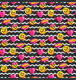 cartoon seamless pattern of enamored smiles and he vector image