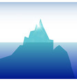 ceberg in the ocean clear sky sunny day vector image