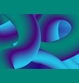 colorful gradient 3d wavy liquid shapes background vector image vector image