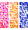 colorful tile triangle background set vector image