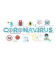 coronavirus word lettering vector image