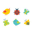 creatures collection birds vector image vector image