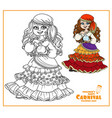 cute girl in gypsy carnival costume vector image vector image